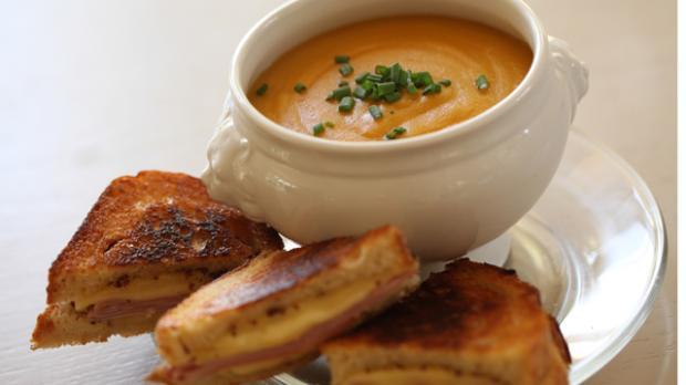 Potato and Leek Soup & Grilled Ham & Swiss Cheese Sandwich ...